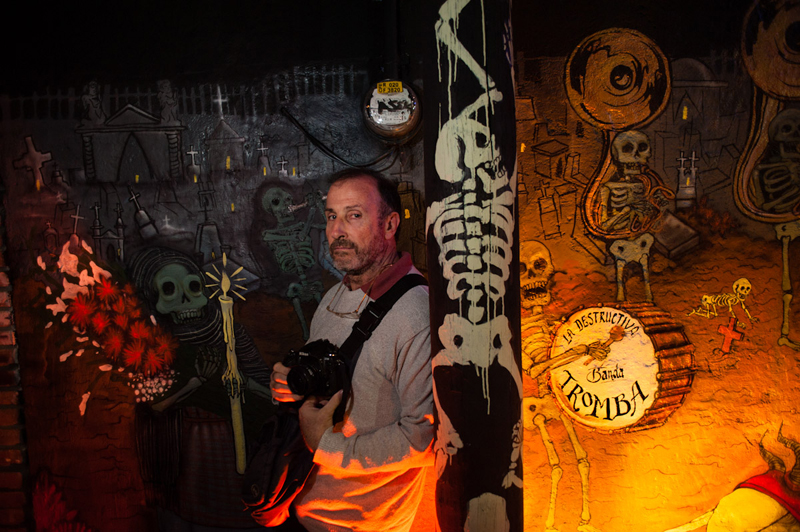 Tino Soriano portrait at the Day of the Dead workshop of Photo Xpeditions