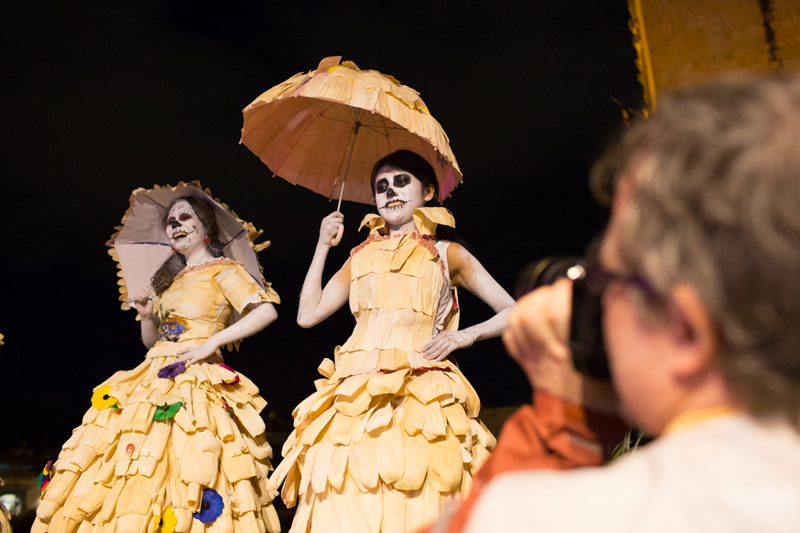 Students at the Trip Day of the Dead in Mexico with Photo Xpeditions in 2013
