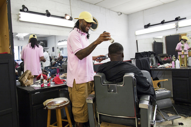 Barber at the Mississippi Delta workshop with Photo Xpeditions in 2014