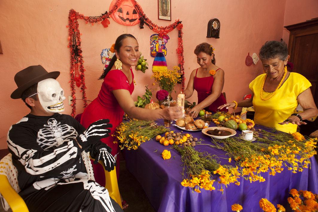 Day of Death in Oaxaca - Altar - Mexico